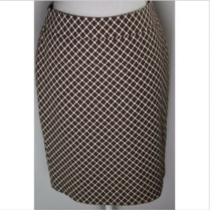 Ann Taylor women's skirt size 4 brown print lined